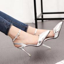 2016 Summer Brand Elegant fine High Heel Sandals Women Dress Shoes Sandal Pure color buckles stilettos women shoes S271