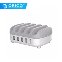 ORICO 5 Ports USB Charger Station Dock with Phone Holder 5V2.4A*5 40W Max For Phone and Tablet PC orico dcap 5u 5 port usb wall charger for tablet and smartphone