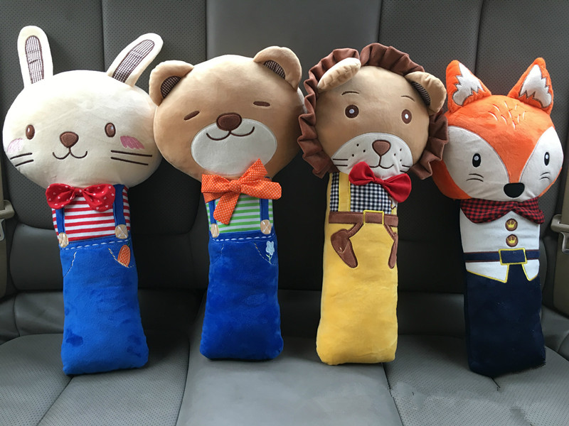Cartoon Animals, Beautiful and Comfortable, Childrens Car Seat Belts, Shoulder Strap, Braces, Baby Pacify Pillow.