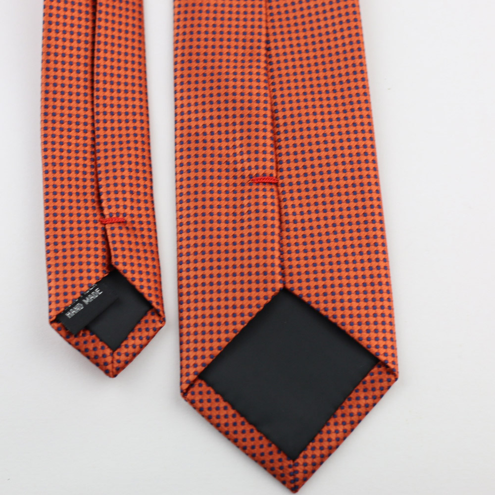 190c15ad5b9b Men's Suit Ties New Design Deep Orange With Blue Spots Checks NeckTie  Skinny Tie 7cm Dress Shirts Wedding Cravat Gravatas-in Men's Ties &  Handkerchiefs from ...