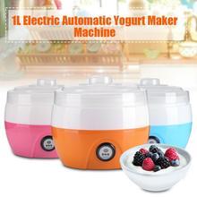 220 В 1Л Электрический автоматический йогурт машина йогурт DIY инструмент пластиковый контейнер Kithchen прибор