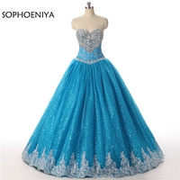New Arrival Ball gown Quinceanera Dresses 2019 Sequined lace vestidos de 15 anos Ball dress ballkleid sweet 16 jurken mint