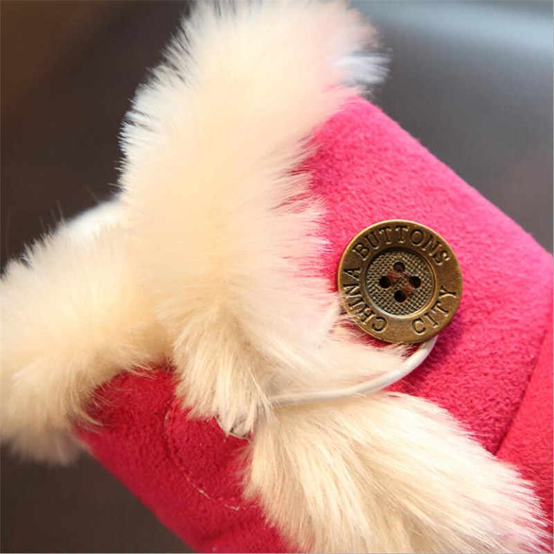 2019 新ファッション冬女の赤ちゃんのブーツ子供の雪のブーツ綿厚いバックルストラップ靴子供マーティンブーツ
