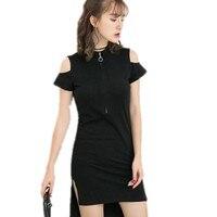 YSMARKET Slim Sexy Black T Shirt Dress Women Clubwear 2017vestidos De Novia Short Elegant Dresses Online