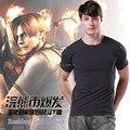 ENVÍO LIBRE 2015 de Resident Evil Leon Camiseta Delgada Para Hombre de Algodón de la Camiseta para la Primavera Otoño Ropa Casual Top Tee