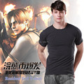FREE SHIPPING 2015 Resident Evil Leon's Slim T-shirt Mens Cotton Shirt for Spring Autumn Casual Clothes Top Tee