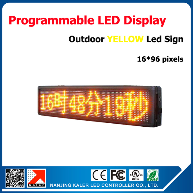 41\'\'x9\'\' Yellow LED Sign Scrolling Moving Message Display Aluminum ...