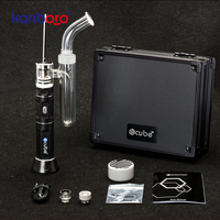 E Ciggarette Kanboro Ecube kit Dry herb Oil Vaporizer Quartz Nail Vape Pen Electronic with Water Filtration Pipe Smoking Dabber