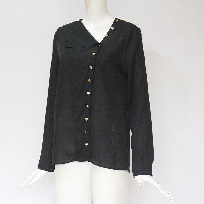 Women Tops And Blouses 2019 Fashion Long Sleeve Skew Collar Chiffon Blouse Casual Tops Plus Size Elegent Work Wear Shirt Women Women's Blouses Women's Clothings cb5feb1b7314637725a2e7: Army green|black|Blue|gray|Navy blue|Pink|Royal Blue|White|YELLOW