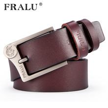FRALU 2018 NEW genuine leather belt for men gift designer belts men's high quality  Personality buckle,Vintage jeans belt