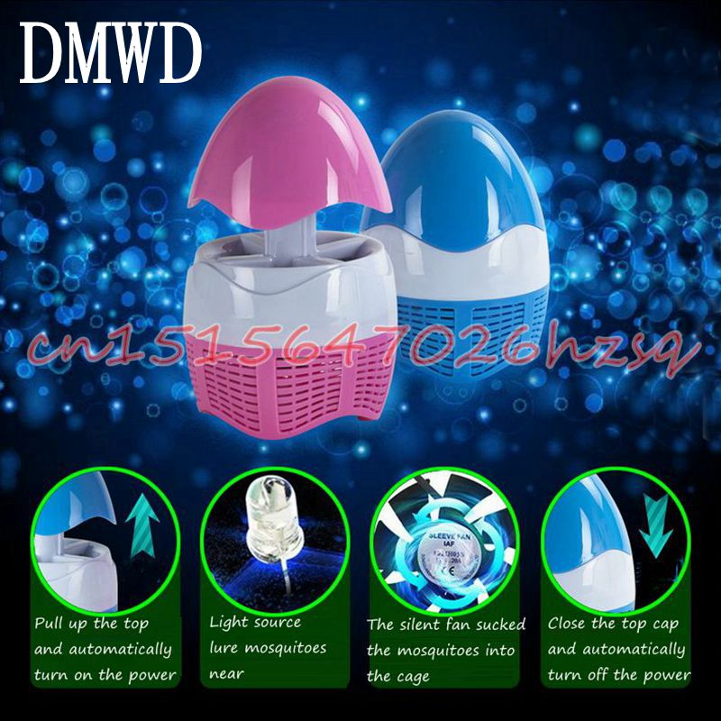 DMWD LED Mosquito Killing Lamp Mini Telescopic Photocatalyst Mosquito repellent lamp Fly Bug Traps for home Outdoor with USB kind worth killing
