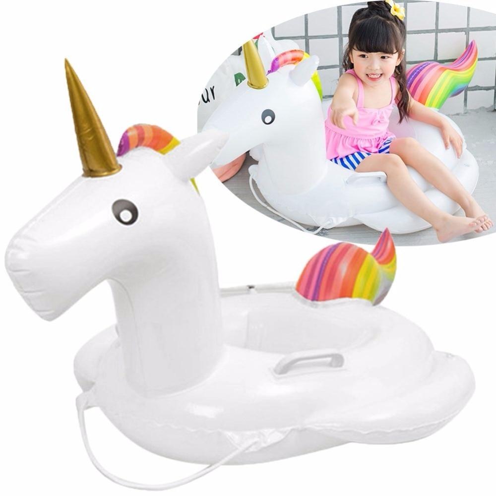 Child Swimming Ring Unicorn Flamingo Seat Inflatable Pool Kids Swimming Float