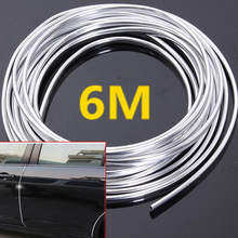 цена на 6 Meters Chrome Moulding Trim Strip Car Door Edge Scratch Guard Protector Cover
