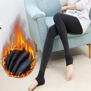 Image 5 - YGYEEG 2020 ใหม่พลัสCASHMERE Leggingsแฟชั่นผู้หญิงหญิงสาวฤดูหนาวBrightกำมะหยี่ถักหนาSuperยืดหยุ่นกางเกง