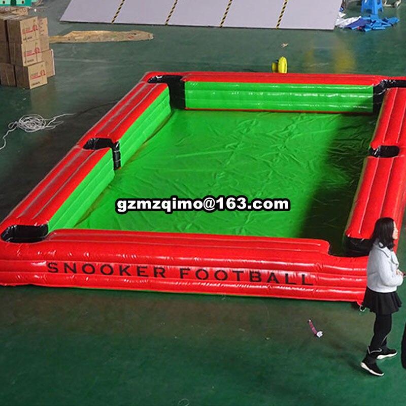 8x5x0.5 m professionnel gonflable de billard domaine gonflable football cour air table de billard de billard piscine pour vente
