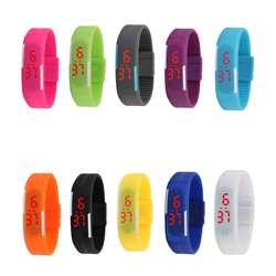 LinTimes одноцветное Цвет детей светодиодный электронный браслет Сенсорный экран наручные часы идеальный подарок