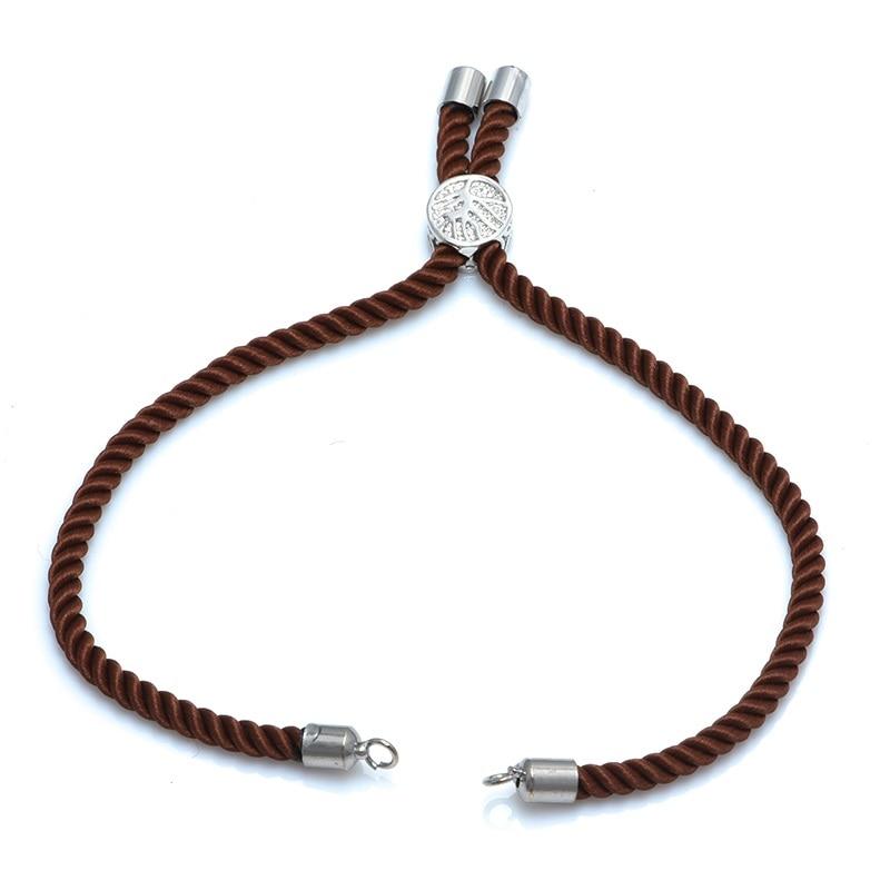 12 цветов Новые черные красные веревки плетеные веревки регулируемая цепь для шармы-соединители ювелирные изделия для создания браслетов ювелирных изделий - Цвет: brown