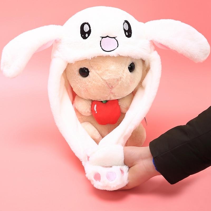 Новый стиль привлекательные дети милые двигающиеся уши кролик шляпа танец плюшевые игрушки для подарка