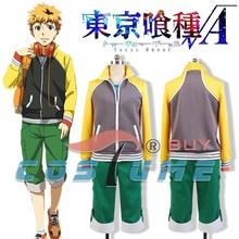 Tokyo Ghoul Hideyoshi Nagachika Men Long Sleeve Coat Jacket Hoodies Pants Japanese Anime Cosplay Costume Custom Made New Arrival