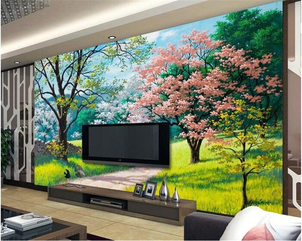 Beibehang Kustom 3d Foto Wallpaper Pemandangan Alam Wallpaper