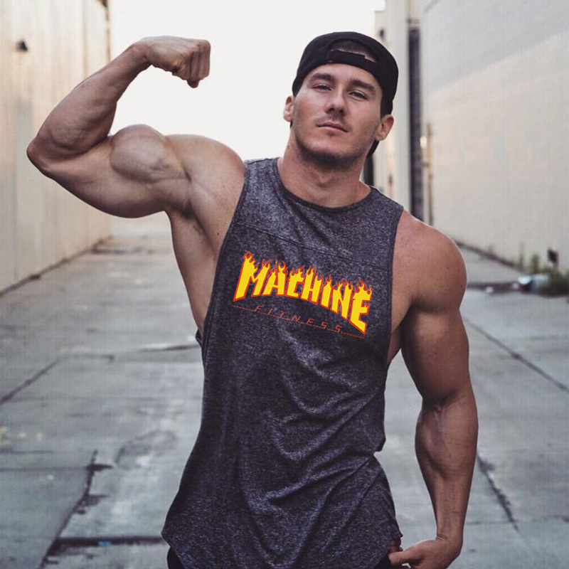 Muscleguys Gyms Tank Top Men Workout Clothing Bodybuilding Stringer Muscle Vests Cotton Patchwork Singlets fitness homme