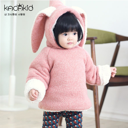Kacakid-winter-cute-baby-girls-thickening-clothes-kids-plus-velvet-zipper-cotton-Hoodies-children-long-ears-rabbit-Sweatshirts-2