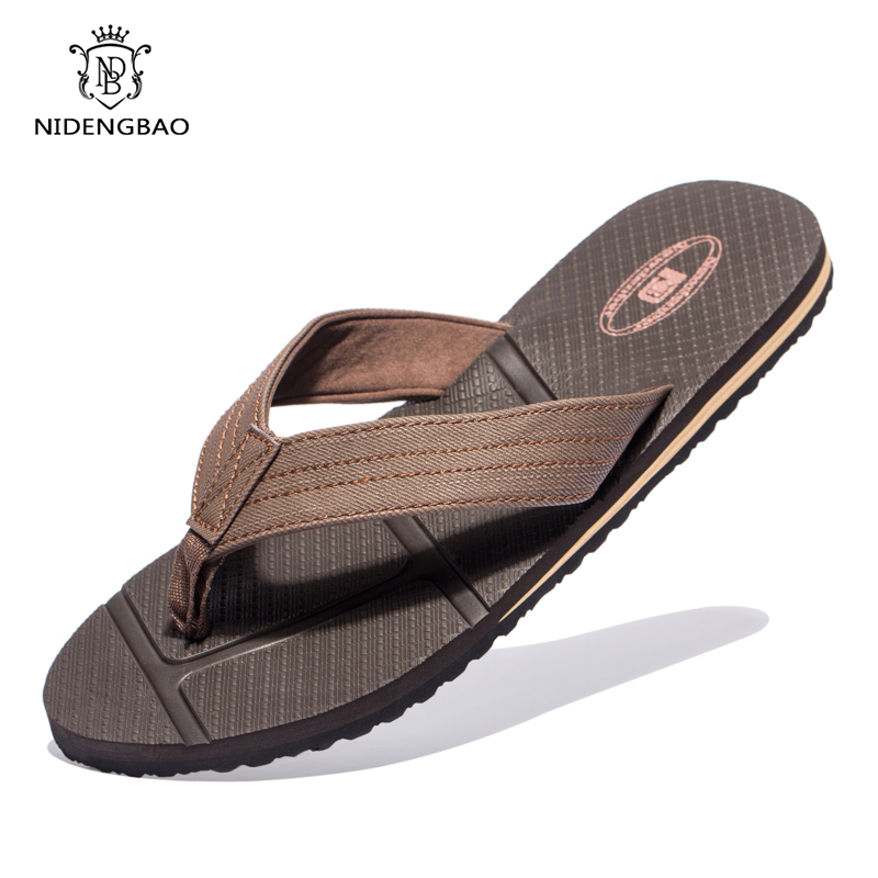 Summer Men Flip Flops Outdoor Beach Sandals Casual Shoes Slippers Men Light Soft Mans footwear Big Size 40-48 zapatos de hombre(China)