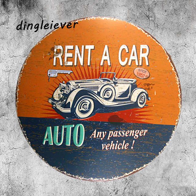vintage automotive metal signs