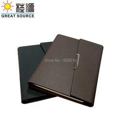 حافظة مستندات Cleaer القلم حقيبة اللون ملصقات و لينة حاكم A5 جلدية للطي حلقات للغطاء الموثق ل A5 مخطط