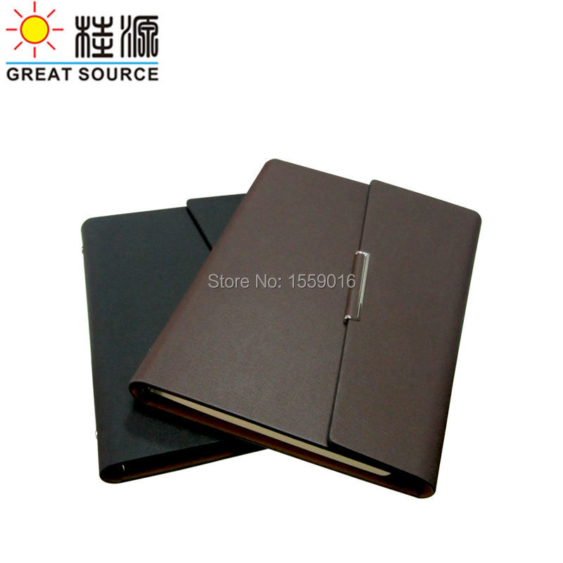 Document Folder  Cleaer Pen Bag Color Stickers And Soft Ruler A5 Leather Folding Cover Ring Binder For A5 Planner