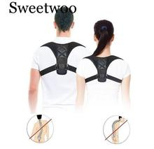 Brace Support Belt Adjustable Back Posture Corrector Clavicle Spine Shoulder Lumbar Correction
