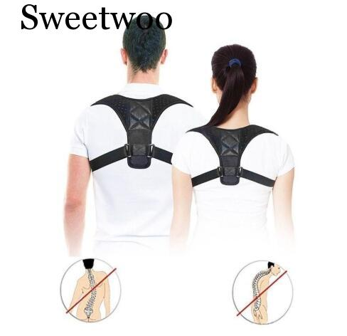 Brace Support Belt Adjustable Back Posture Corrector Clavicle Spine Back Shoulder Lumbar Posture Correction image