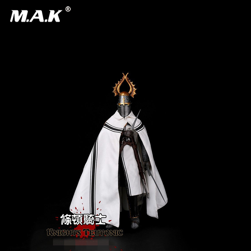 1/6 Scale ZH011 Medieval Knight Teutonic Soldier Doll Action Figure Model Toys for Collection kumik 1 6 scale war brown horse model ac 10 fit for 12 soldier zc ttl phicen action figure doll toys