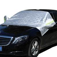 Car Windshield Snow Sun Shade Protector Winter Snow Ice Sun Shade Exterior Shield Guard Fits All Weather Auto Sunshade Cover