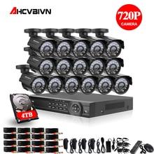 16CH 1080P HDMI DVR 2000TVL 720P HD Outdoor Surveillance Security Camera System 16 Channel CCTV DVR Kit AHD Camera Set 4TB HDD