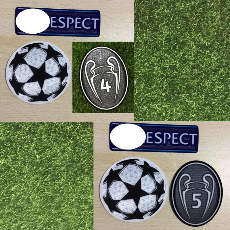 2019 Champions Patch Respect Starball Badge Trophy 4 Tijd en 5 Tijd Cup Warmteoverdracht Patch