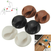 6Pcs Multipurpose Double Holes Wire Cord USB Charger Earphone Cable Organizer Holder
