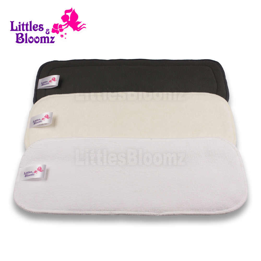[Littles&Bloomz] 2 Pcs insert Reusable Washable microfibre bamboo charcoal Inserts Boosters Liners For Cloth Nappy Diaper Cover
