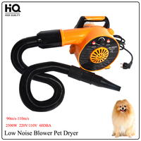 New HB208 Pet Dog Hair dryer Blower Low Noise Dog Grooming Dryer 220V/110V 2300W EU/AU/plug of the United States Wind Variable