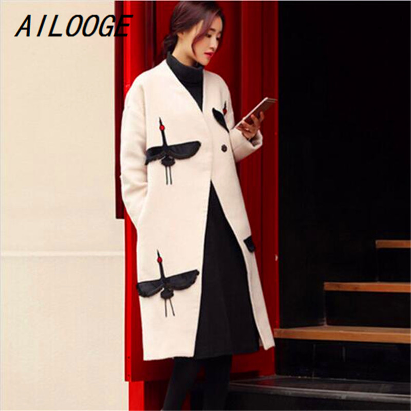 Lana Di In Nuove Ailooge Lungo Stazione Coreana 2017 grey Inverno Versione E Autunno Dimensioni Europea Donne Cappotto Giacca Grandi White PvqvXg