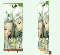 200X85 cm bamboo roll up banner, bambù pull up banner, roll-up display, bamboo display banner