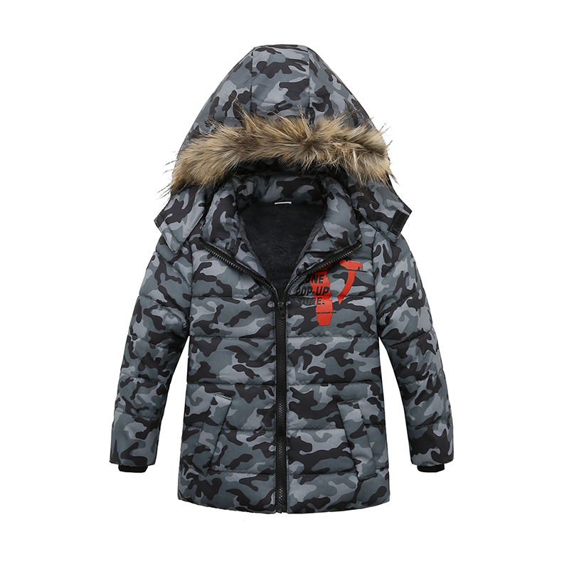 Fashion Boys Winter Hooded jacket Cotton-padded clothes padded children clothing Boys Warm Winter Coat Kids Thickening Outerwear все цены