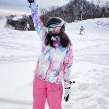 Sports Entertainment - Sportswear  - Women Ski Suits Outdoor Snowboarding Sets Jacket And Pants Windproof Waterproof Thermal Sporting Suit Female Ladies Sportswear