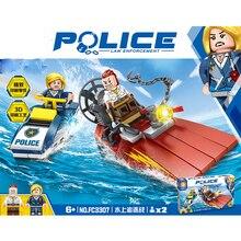 City Series Super heroes SWAT policia nave ladrones persecucion bloques de construccion juegos ladrillos modelo juguetes Comp