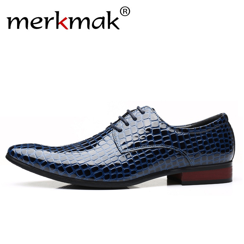 Men's Shoes Plus Size Luxury Italian Style Men Dress Leather Formal Shoes Men Snake Skin Office Business Wedding Boat Pointed Toe Shoes Selected Material