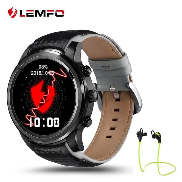 2017 Best Lemfo LEM5 ОС Android 5.1 Смарт-часы 1 ГБ + 8 ГБ Bluetooth 3 г Wi-Fi SmartWatch для iPhone IOS телефона Android