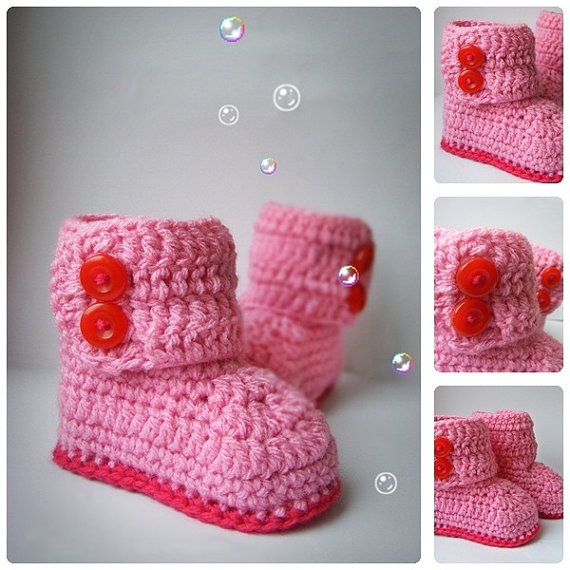 crochet baby bootie for new year winter use
