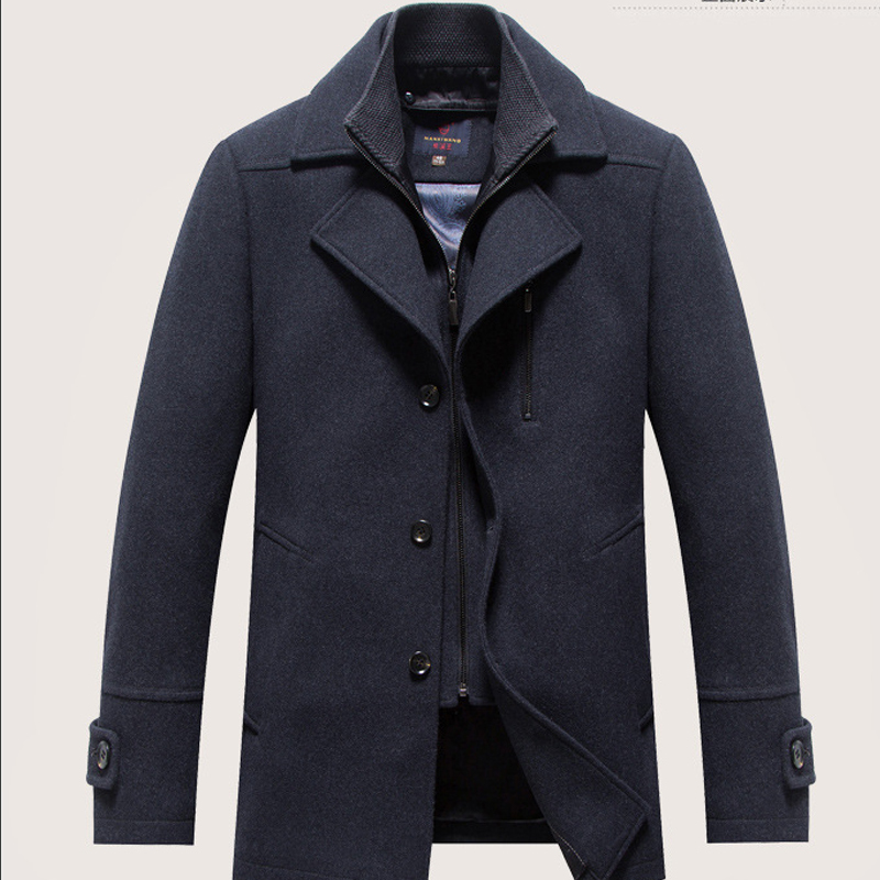 autumn winter new brand men single breasted wool overcoat. Black Bedroom Furniture Sets. Home Design Ideas
