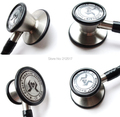 stethoscope cardiology Professional Acoustical Physicians Doctor nurse Stethoscope Dual head Medical stethoscope with name tag