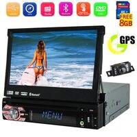 7 дюймов 1 Din сенсорный экран автомобильный dvd стерео gps навигация в тире Автомобильный gps Радио dvd плеер головное устройство Поддержка USB/SD/AUX з